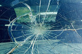 The broken windshield in the car accident — Stock Photo