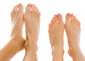 Two feet side by side — Stock Photo