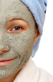The beneficial effect on the skin of the clay — Stock Photo