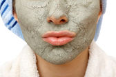 Secrets of skin firming facial mask — Stock Photo