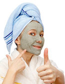 Best facial mask for a healthy skin — Stock Photo
