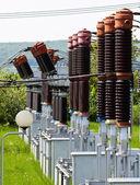 Estación del transformador de alto voltaje — Foto de Stock