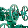 Royalty-Free Stock Photo: Green pipe system with valves