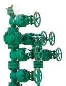 Système de tuyau vert avec vannes — Photo