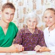 Stock Photo: Elderly woman with the young doctor