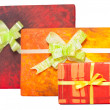 Stock Photo: Gift boxes with ribbon