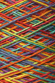 Multicolored yarn roll — 图库照片