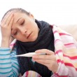 Suffering from influenza — Stock Photo