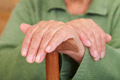 Old woman's hands — Foto Stock