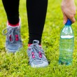 Stock Photo: Hydration during workout