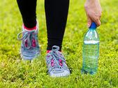 Hidratación durante el ejercicio — Foto de Stock