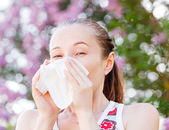 Pollen allergy — Stock Photo