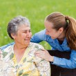 Stock Photo: Elderly woman and her daughter