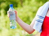 Hydration during workout — Stock Photo