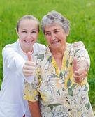 Elderly care — Stock Photo