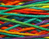Multicolored yarn roll — Stock Photo