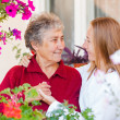 Elderly care — Stock Photo