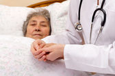 Medical insurance in old age — Stock Photo