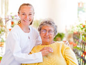 Elderly home care — Stock Photo