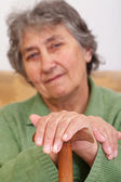 Portrait of a senior lady — Stock Photo