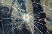 壊れたフロント ガラス — ストック写真