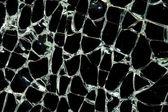 Rozbité sklo v dopravní nehodě — Stock fotografie