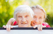 Assistenza domiciliare anziani — Foto Stock