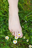 Barefoot on the grass — Stock Photo