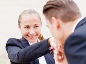 Happy young business people — Stock Photo