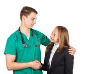 Doctor and businesswoman — Stock Photo