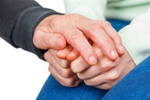 Reassuring hands — Stock Photo