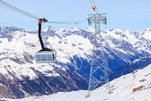 Ski cabin lift — Stockfoto