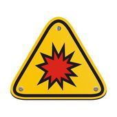 Explosion risk - triangle sign — Stock Vector