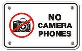 No camera phones rectangle sign — Stock Vector