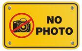 No photo yellow sign - rectangle sign — Stock Vector