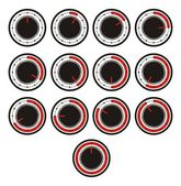 Timer icon sets - red indicator — Vector de stock