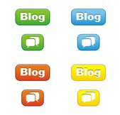 Colorful blog buttons — Stock Vector