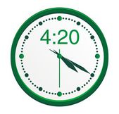 4:20 clock — Vettoriale Stock