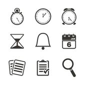 Organiser icon sets — Stock Vector