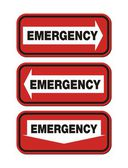 Emergency signs - red sign — Vector de stock
