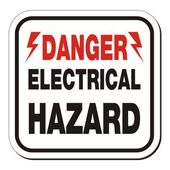 Danger electrical hazard sign — 图库矢量图片