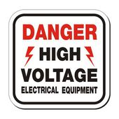 Danger high voltage electrical equipment sign — Stock Vector