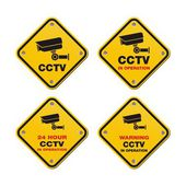 CCTV street signs — Stock Vector