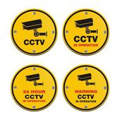 CCTV circle sign — Stockvektor