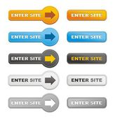 Enter site buttons — Stock Vector