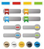 Minus button kit — Stock Vector