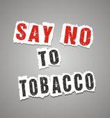 Say no to tobacco poster — Stock Vector