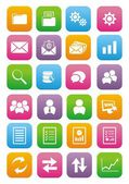 Back office flat style icon set — Stock Vector