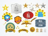 All star decoration kit — Stock Vector