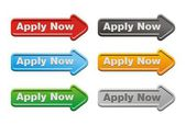 Apply now button sets - arrow buttons — Stock Vector